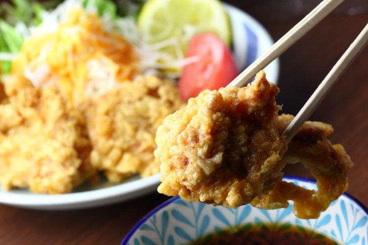 テムジン オリーブ地鶏のとり天 1300円(税込)