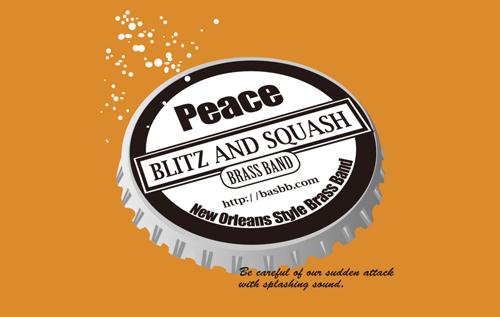 "BLITZ AND SQUASH BRASS BAND ""peace"" 発売中"